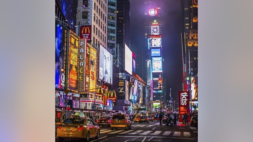 New York City's Times Square was one of the most Instagrammed spots around the world in 2014.