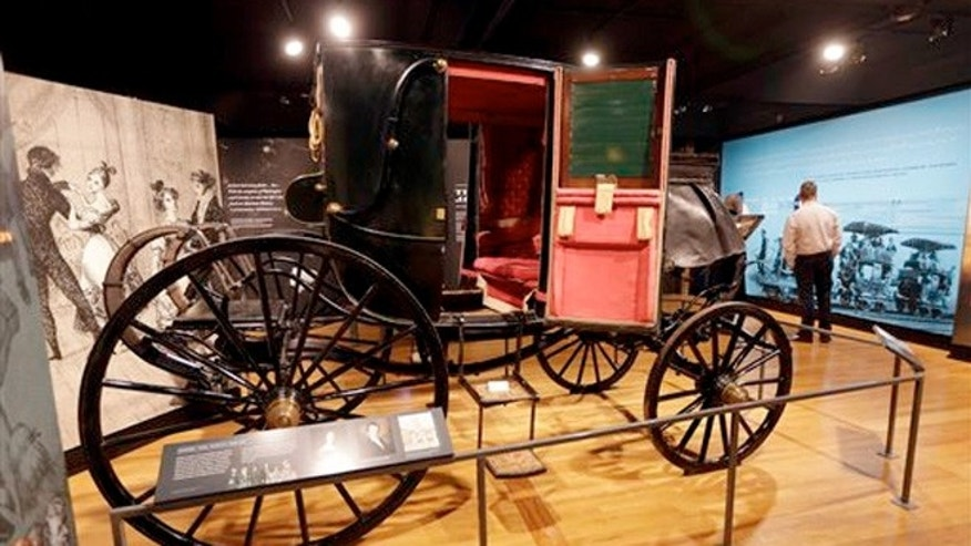 Jan. 7, 2015: A carriage used by President Andrew Jackson is displayed in Hermitage, Tenn.