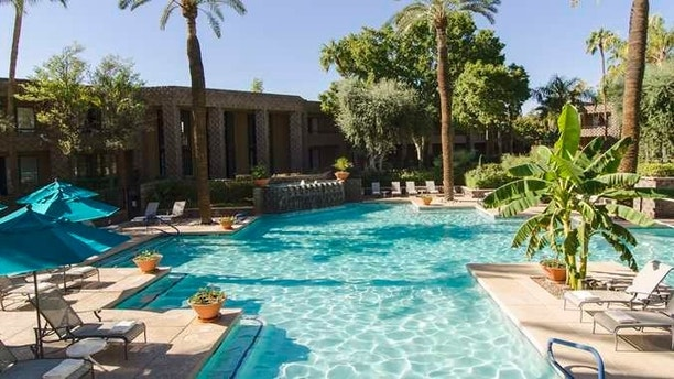 Relax and rejuvenate in one of our two crystalline pools. Enjoy a poolside beverage or relax in the Arizona sun. Play a game of water volley ball or let your kids run wild in our sand playground.