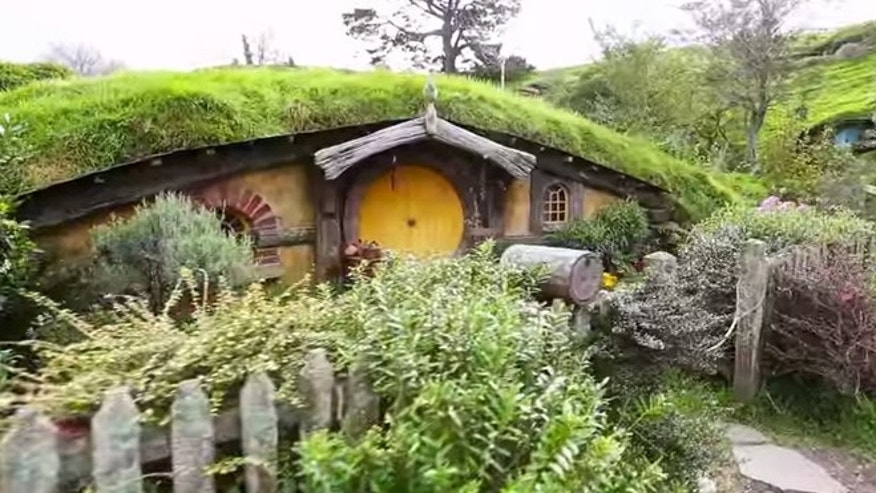 A still from a tour Hobbiton, the movie set in New Zealand used to create the world of 'The Shire' in 'Lord of the Rings' and 'The Hobbit.'