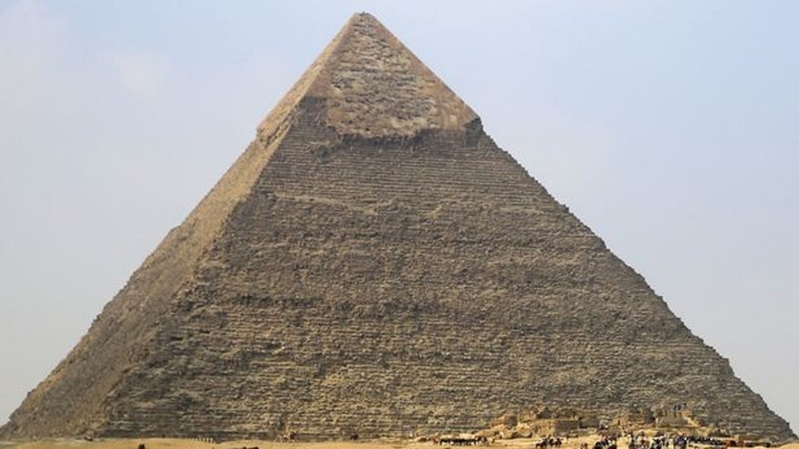 The Giza pyramids on the outskirts of Cairo.