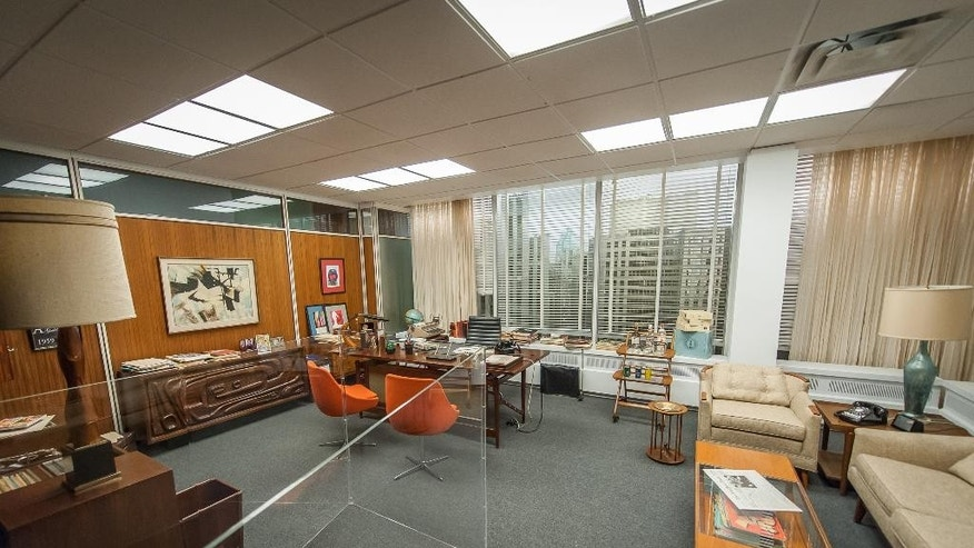 "March 10, 2015:The set for Don Draper's office, featured in seasons 4-6 of ""Mad Men."""