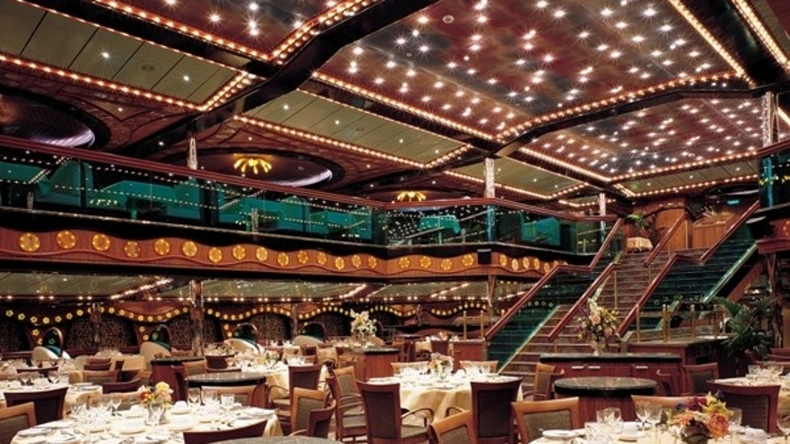 A dining room aboard the Carnival Triumph.