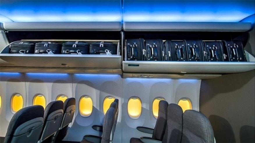 Boeing's 737 will have more spacious overhead bin that can fit between 130 and 194 bags.