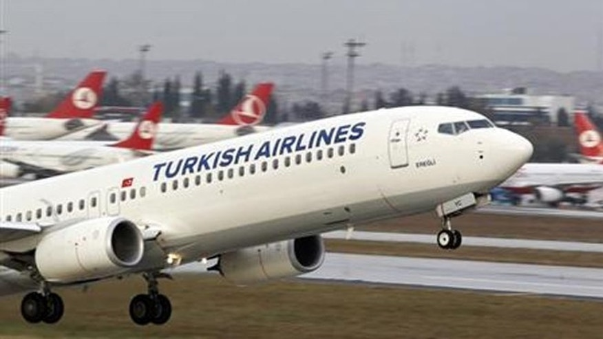 A Turkish Airlines plane takes off at Ataturk International Airport in Istanbul November 30, 2012.