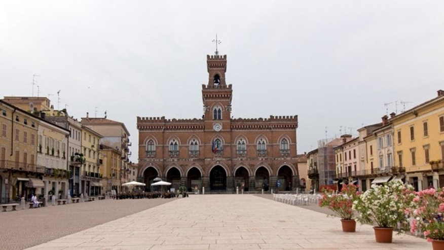 The main square in Cremona, Italy.