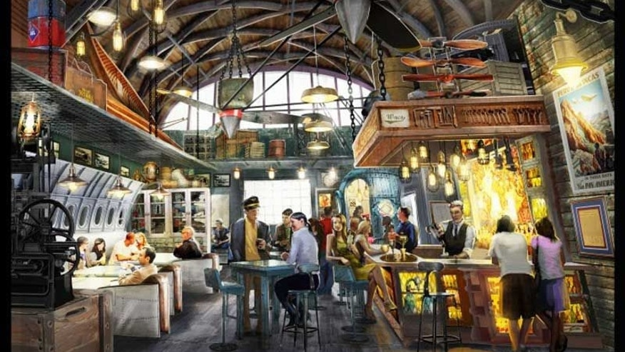 An interior shot of the new Jock Lindsey Hangar Bar.