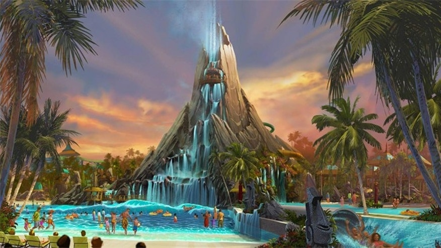 Volcano Bay will feature a massive waterfall and a series of slides.