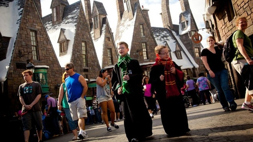 Young Wizards at Universal's Wizarding World of Harry Potter -Hogsmeade.