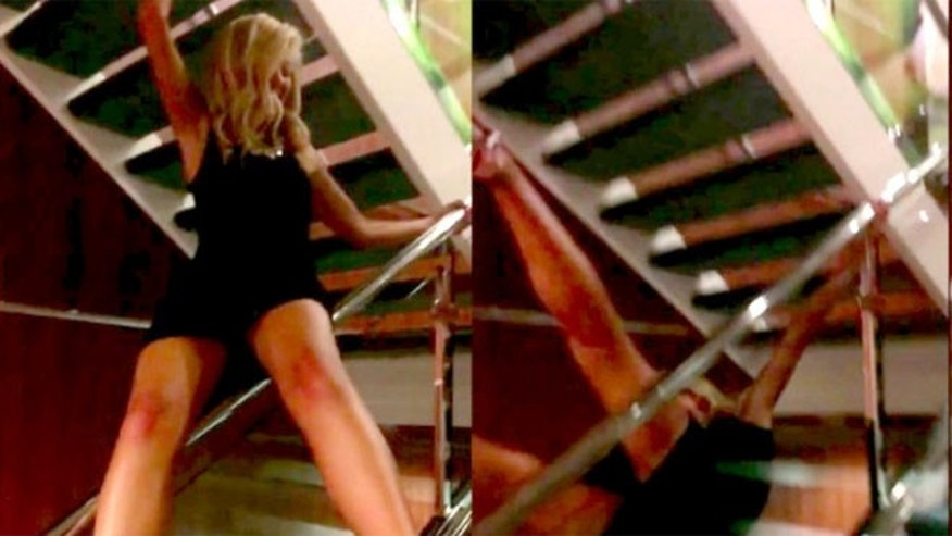Maddie Frank's video of her friend Annie Schwenker falling over a cruise ship banister has gone viral.
