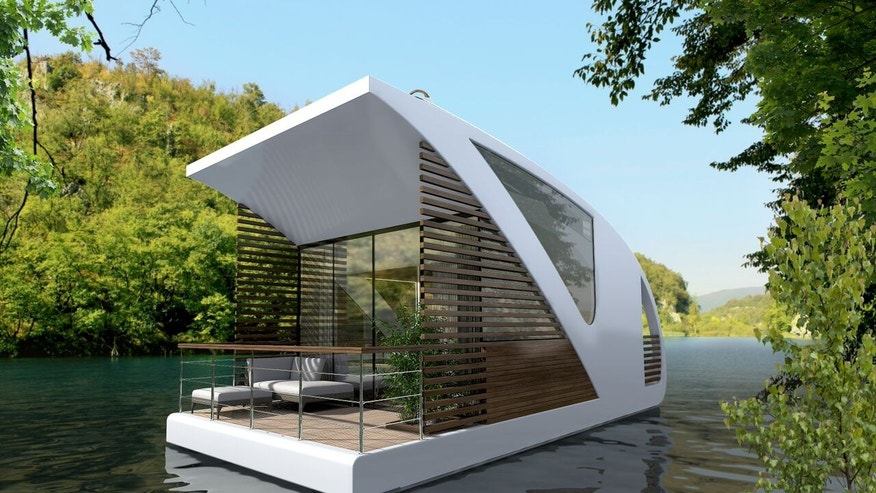 The futuristic design allows for low impact on the surrounding environment.