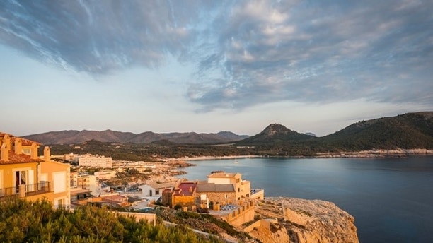 Spain - Early morning view on Cala de s' Aguila.