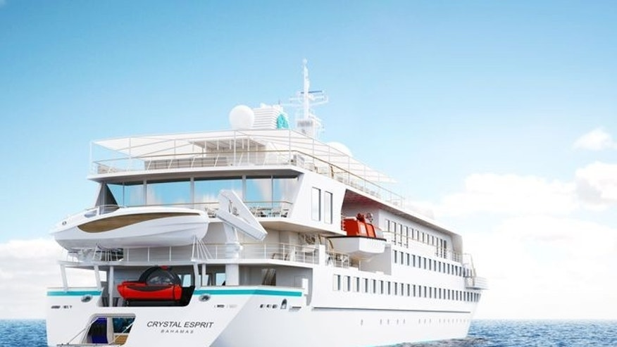 The new luxury yacht Crystal Esprit will have room for just 62 passengers.