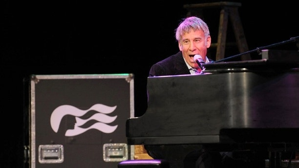 Oscar-winning Broadway composer Stephen Schwartz performs during an event announcing his partnership with Princess Cruises, Thursday, March 12, 2015, at Millennium Broadway's Hudson Theatre in New York. (Photo by Diane Bondareff/Invision for Princess Cruises/AP Images)