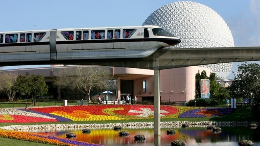 Three park attendees were engaged in a big fight at Epcot Center's Test Track attraction.