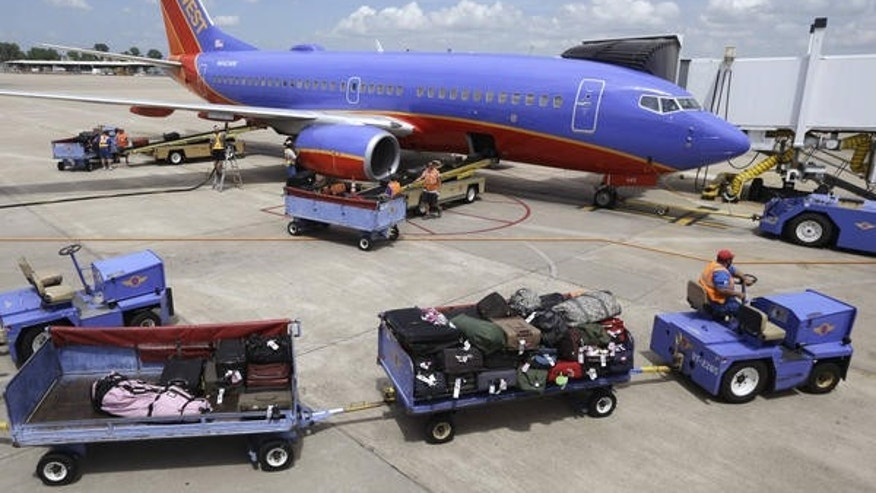 Customers flying Southwest can check up to two bags without a fee.