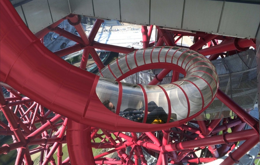 The new slide starts 249 feet above the ground.