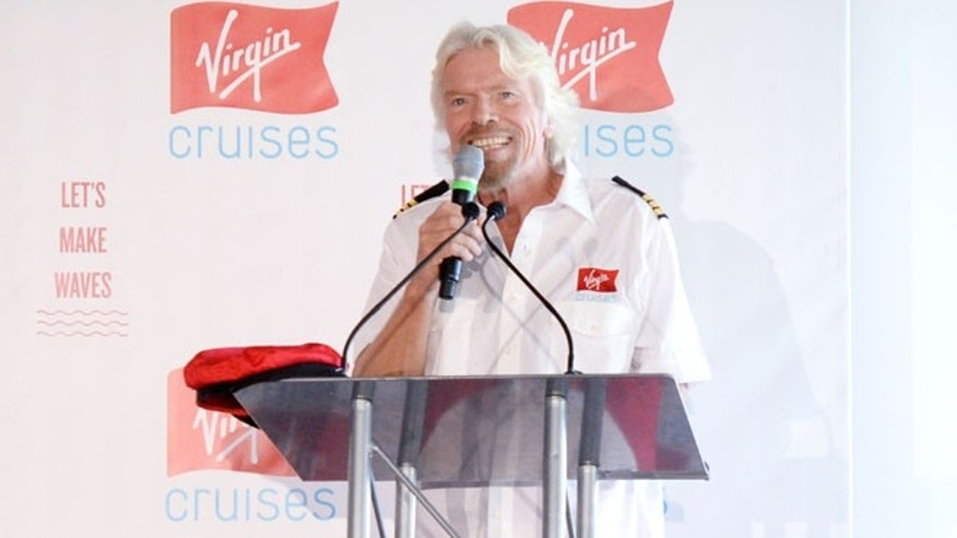 Virgin's Richard Branson says its news ships will be modern, fun, with a sassy atmosphere. And of course, it wouldn't be Virgin without some red.