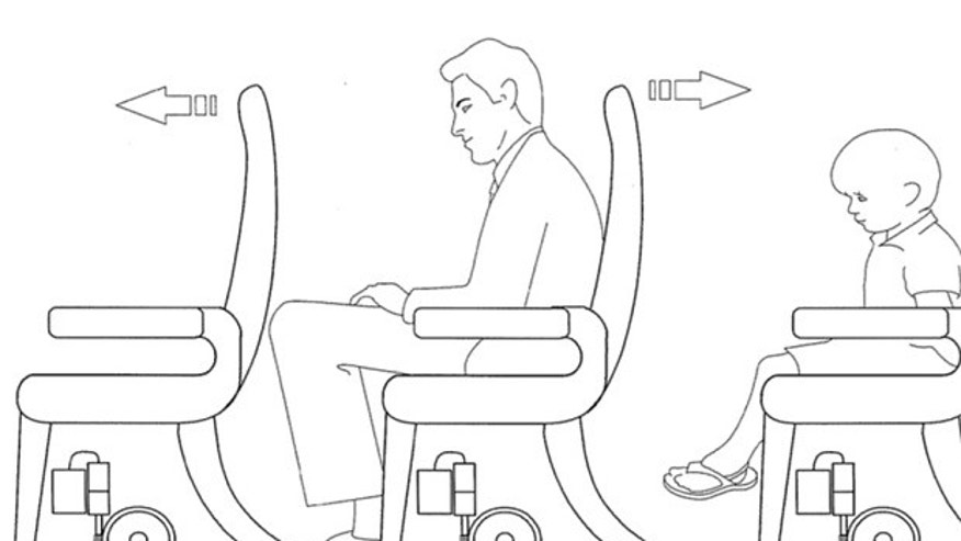 New airplane seat design may provide additional space for taller passengers.