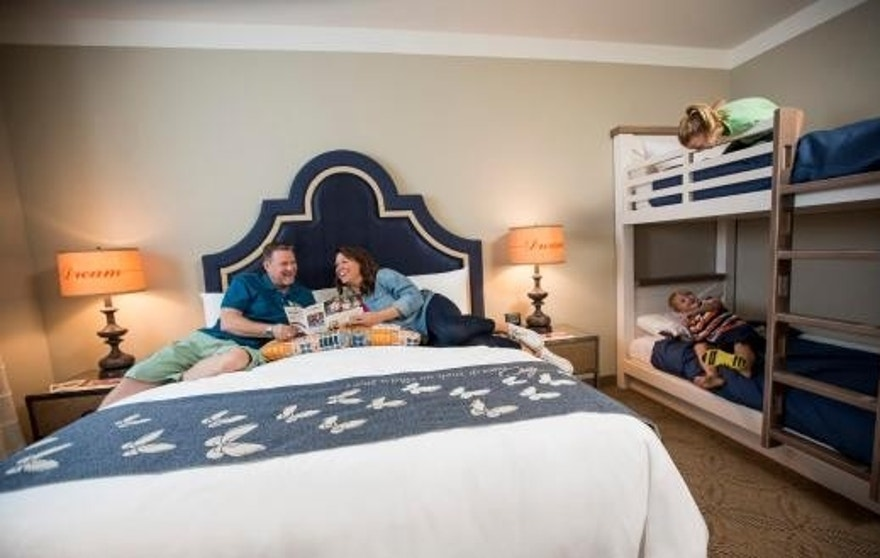 Rooms feature different configurations to accommodate families.