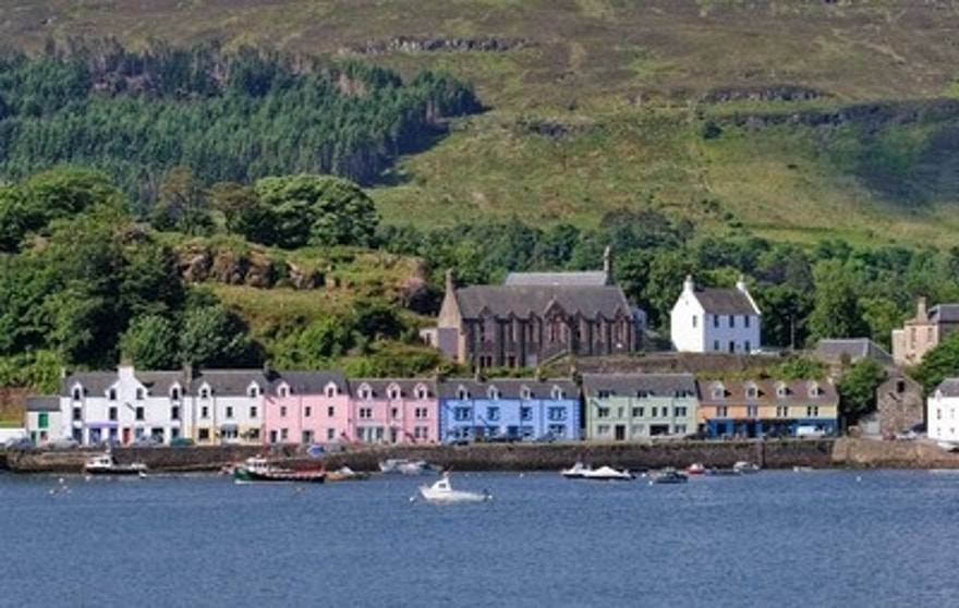 View of Portree, Scotland aboard the Windstar Star Legend.