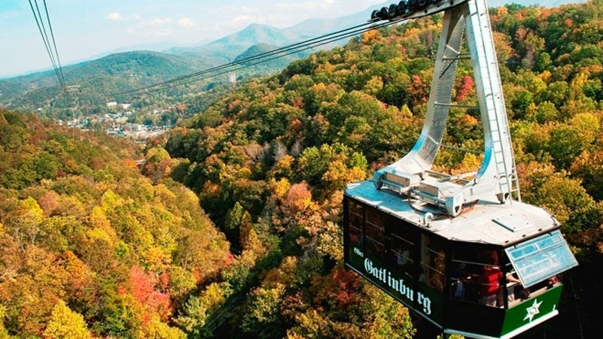 Fall tram ride in Gatlinburg, Tenn.