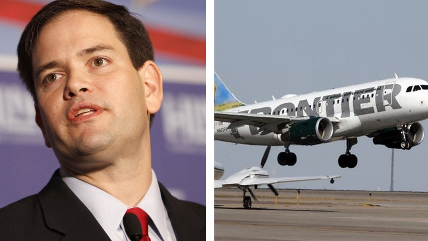 "Sen. Marco Rubio's campaign manager Terry Sullivan said that flying Frontier was ""a special kind of hell."""