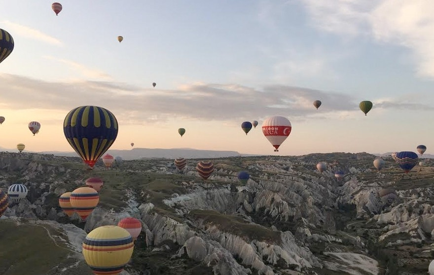 Waking up at the crack of dawn is exhausting, but worth it for views of the Cappadocia region like this.