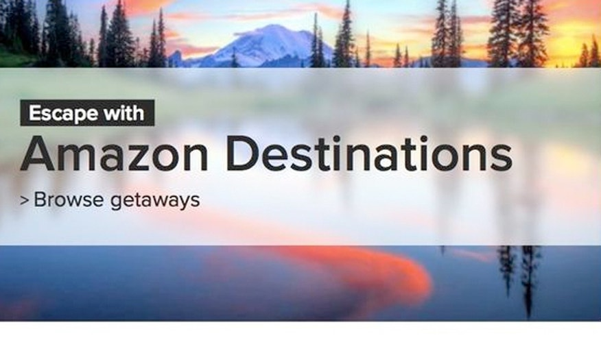 Amazon launched the service in April, hoping to sell close-to-home vacations, featuring destinations and hotels within a customer's driving distance.