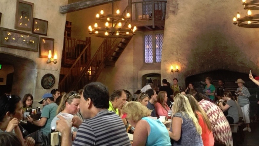 Lunch inside Diagon Alley's Leaky Cauldron.