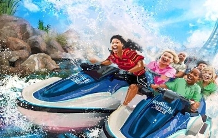 The new SeaWorld Rescue ride will take guests on an adventure through the park's conservation efforts.