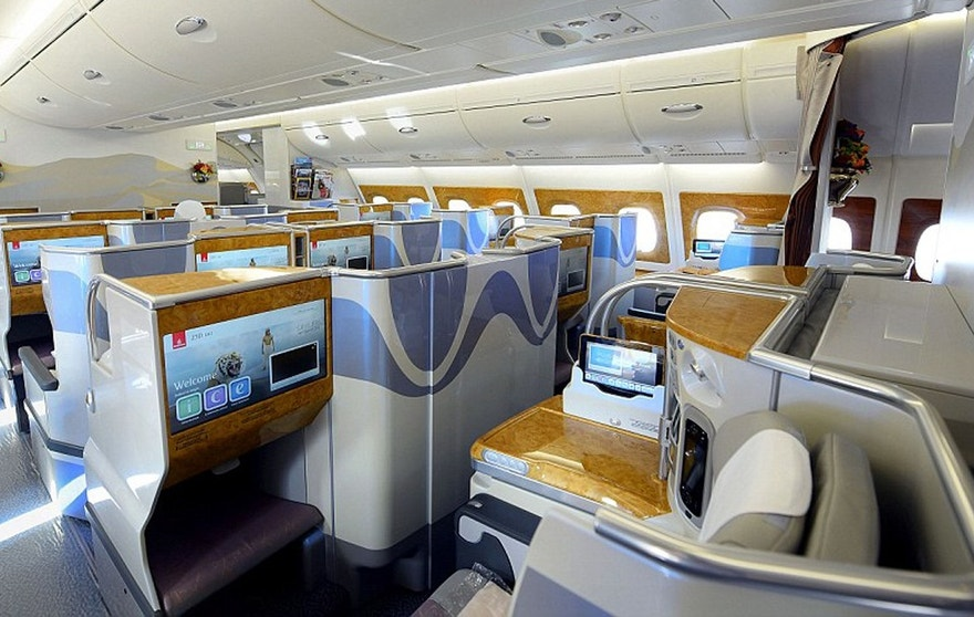 The business class section of the A380 has shrunk by 18 seats to just 58.