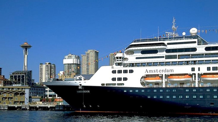 Holland America Line's ms Amsterdam at the Port of Seattle's Bell Street Pier Cruise Terminal.