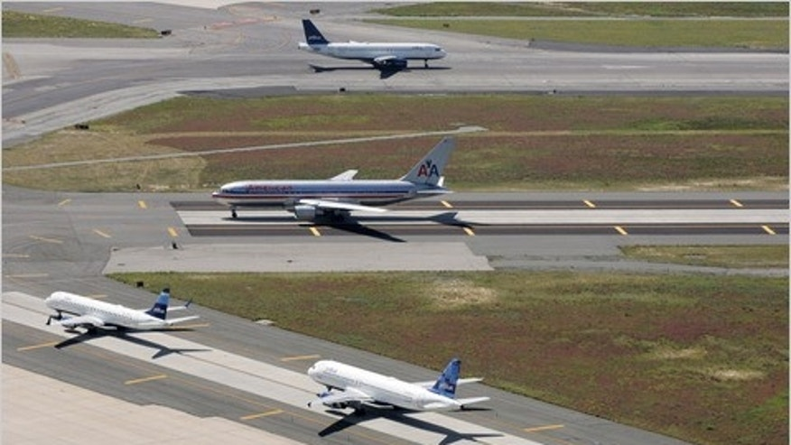 Airlines may be padding flight schedules to account for longer wait times on the tarmac.