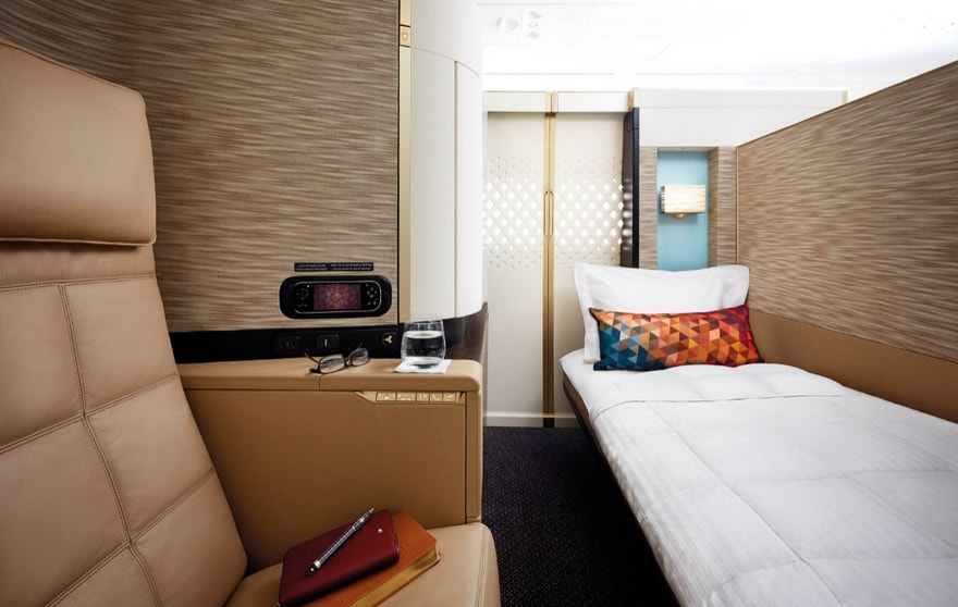 Inside Etihad's luxurious First Apartment suite.