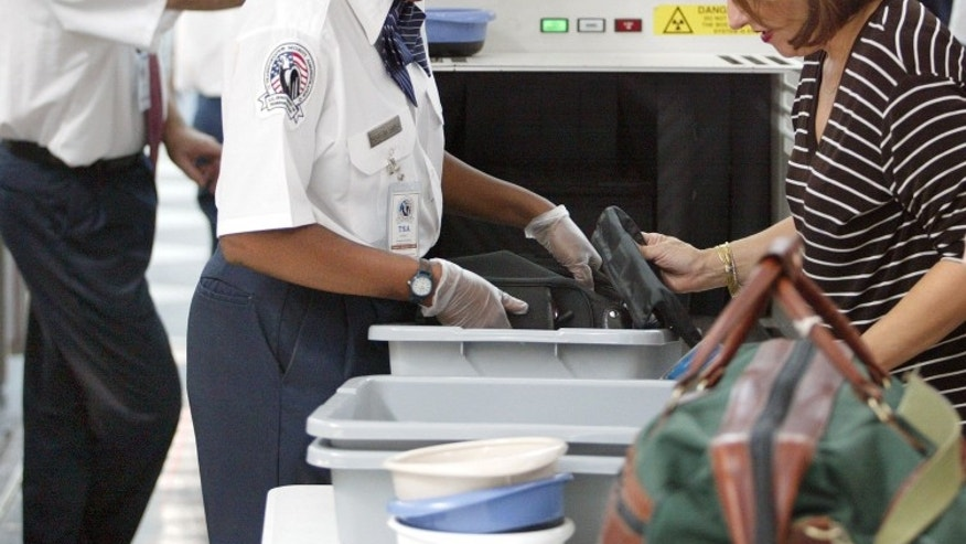 Many travelers leave items behind while going through security.