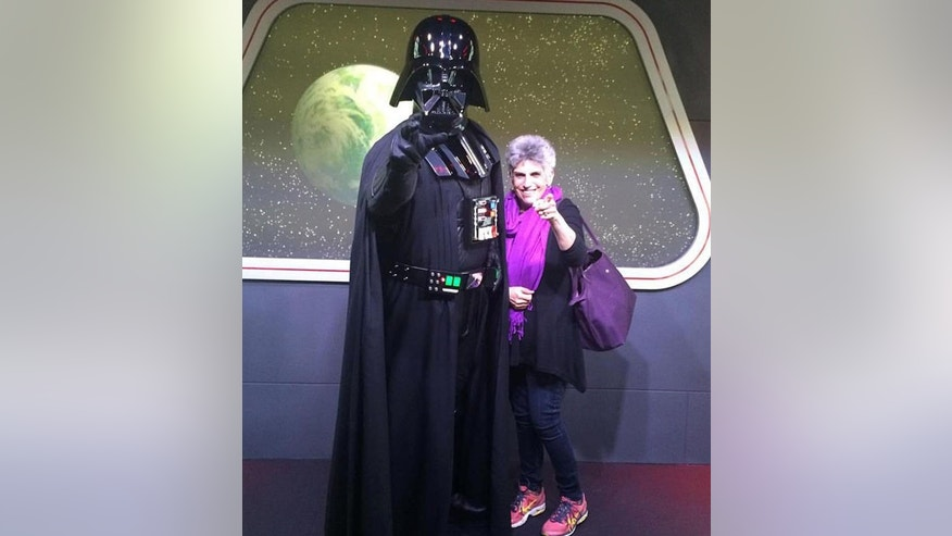 Eileen and Darth Vader.