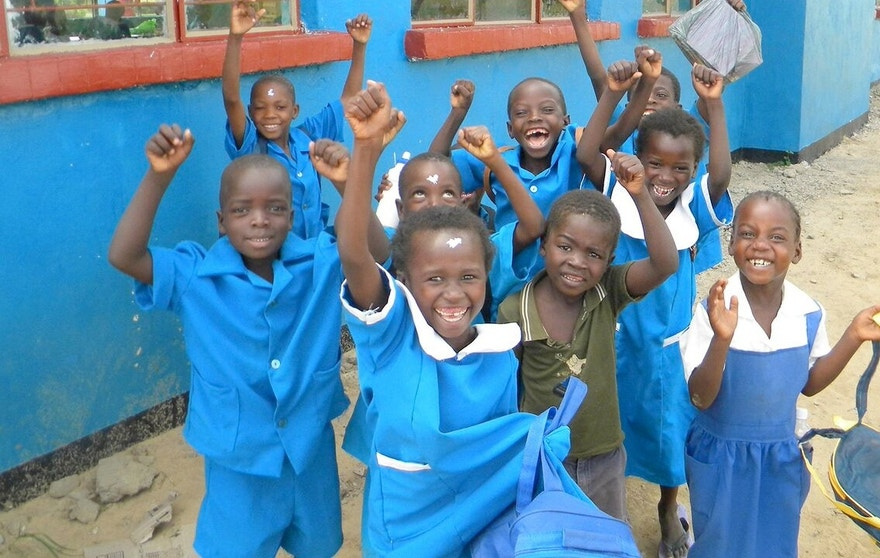 Pack for a Purpose delivers school supplies in Zambia.