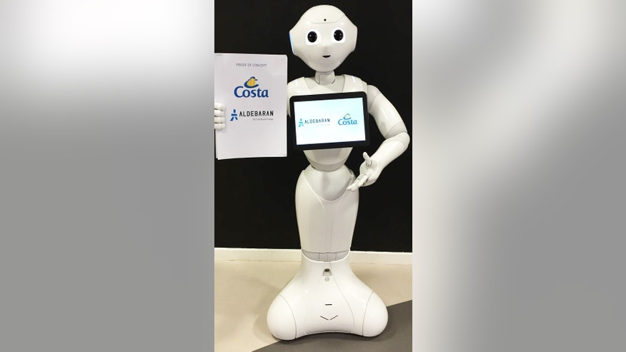 Pepper the robot will start greeting and helping passengers aboard Costa cruise ships in spring 2016.