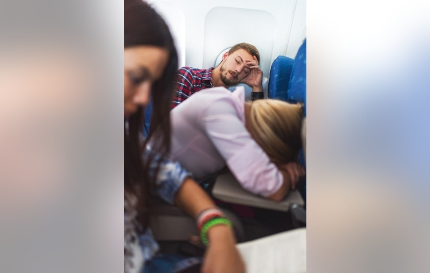 Taking the wrong pills can make you very drowsy and groggy long after your flight.