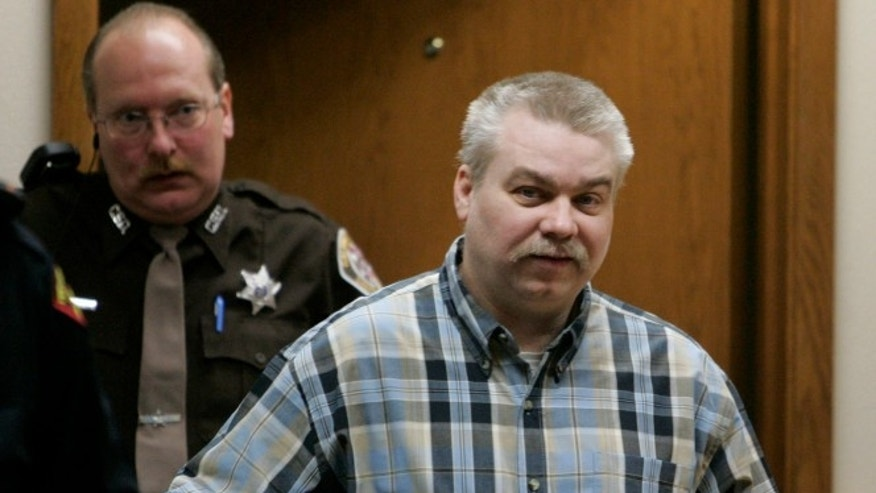 Steven Avery is led into a courtroom in 2007.