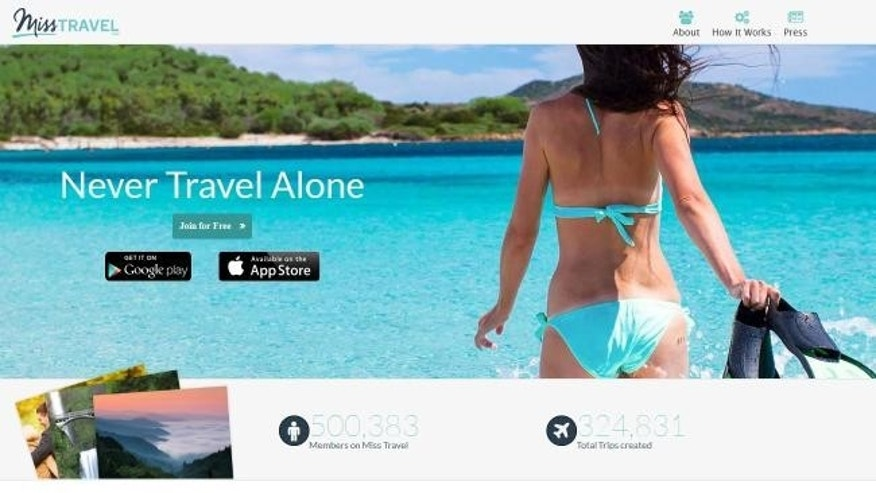 MissTravel connects would-be daters looking for a travel buddy.