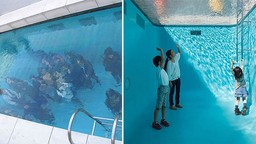 Argentinian artist Leandro Erlich created a swimming pool that makes it look as if people are standing on the bottom.
