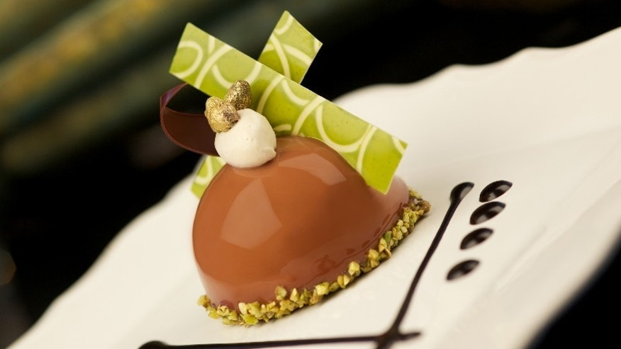 This undated photo provided by Princess Cruises shows a chocolate designed by chocolatier Norman Love for Princess Cruises' Chocolate Journeys program. Chocolate-infused menus and other chocolate offerings are among several new initiatives from Princess this season, including menus by celebrity chef Curtis Stone and on-deck stargazing as part of a partnership with Discovery Channel. (Princess Cruises via AP)