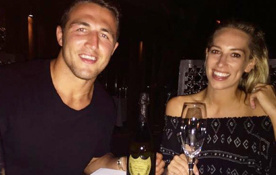 Phoebe and Sam Burgess on their recent honeymoon.