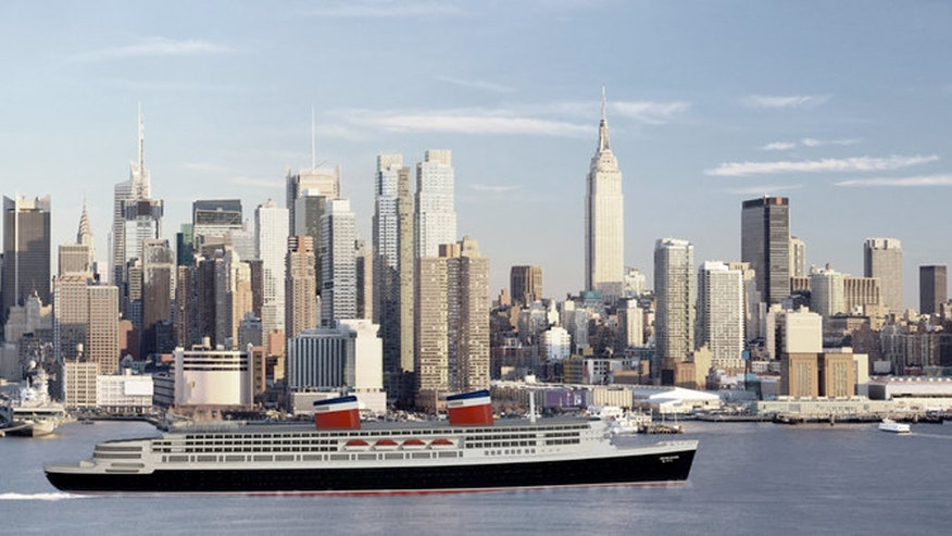 A rendering shows the refurbished S.S. United States that could feature gold-leaf embellishments, sculptures and top-of-the-line service and culinary experiences.