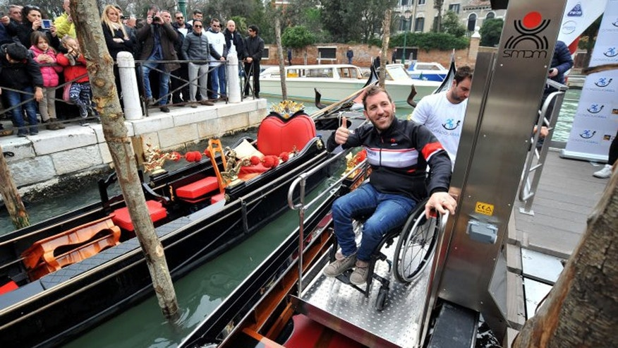 Wheelchair users and people with disabilities will now be able to board a gondola in Venice, Italy.