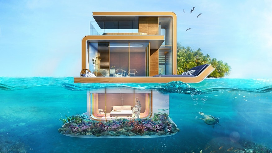 Floating Seahorse villas feature three levels of above and underwater luxury.
