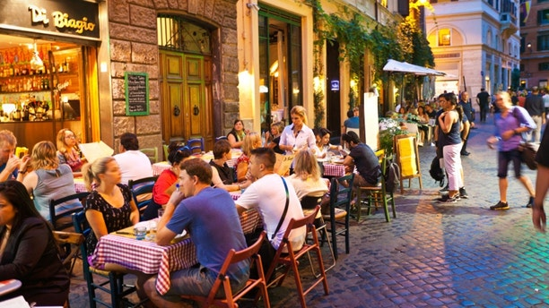 Italy streets cafe