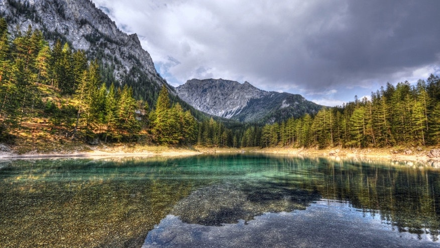 One of Austria's most famous lakes isn't quite so clear now.